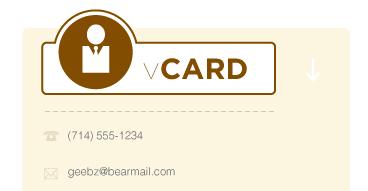 peachGrid vCard