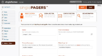 singlePAGER feature - advanced theme options